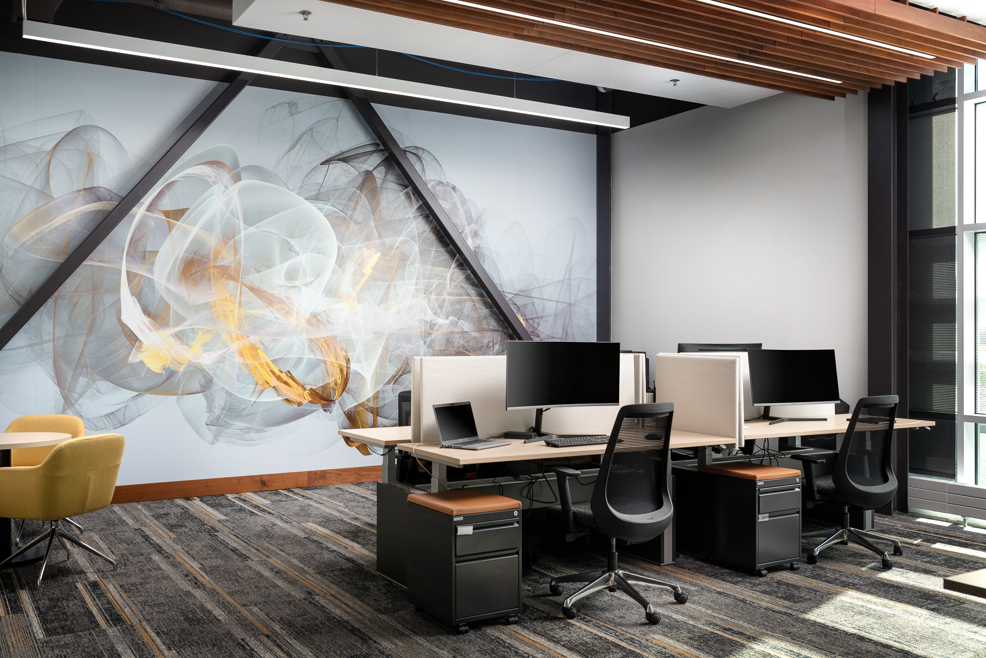 1 Scientel office with mural